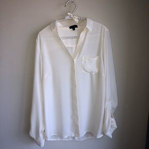 The Limited ivory essential shirt
